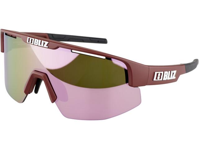 Bliz Matrix Small Nano Optics Nordic Light Glasses, matte wine red/brown/rose multi